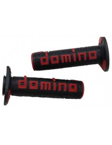 Puños Domino OffRoad RPS negro/rojo