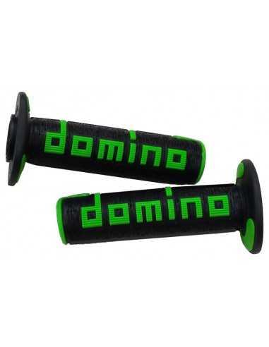 Puños Domino OffRoad RPS negro/verde