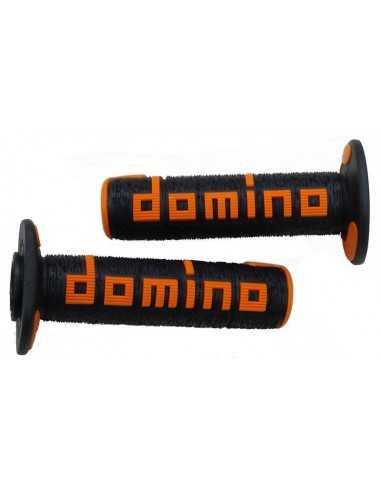 Puños Domino OffRoad RPS negro/naranja