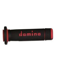Puños Domino ATV negro/rojo
