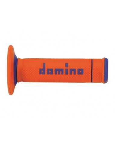Puños Domino OffRoad Extrem naranja/azul