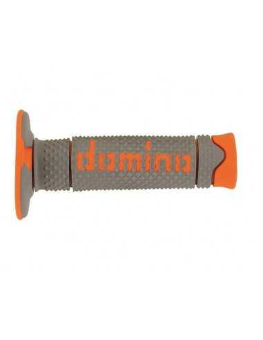 Puños Domino Off Road DSH gris/naranja