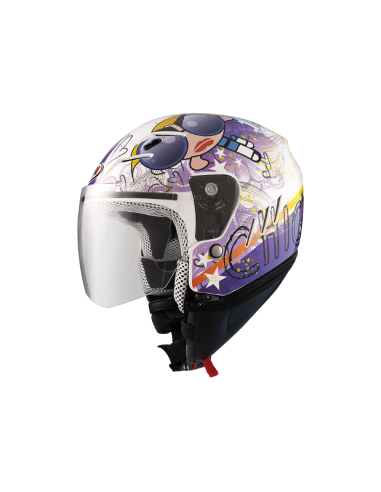 Casco Shiro SH-20 TRES CHIC II BLANCO