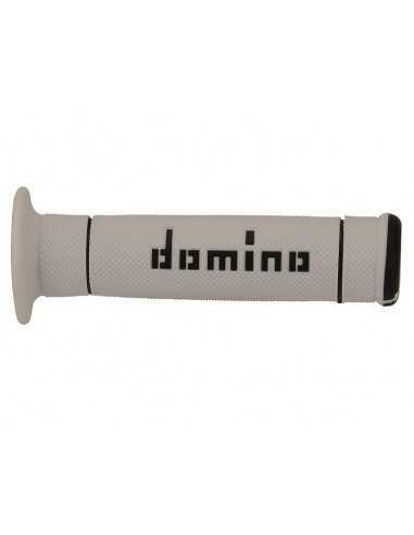 Puños Domino de trial blanco/negro