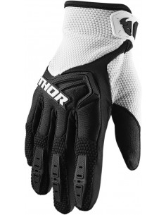 Guantes THOR S20Y SPECT BK/WH