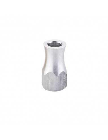 Tuercas Aluminio Agarre Cubierta Plata