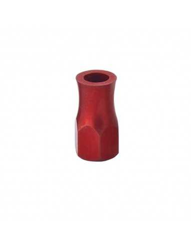 Tuercas Aluminio Agarre Cubierta Rojo